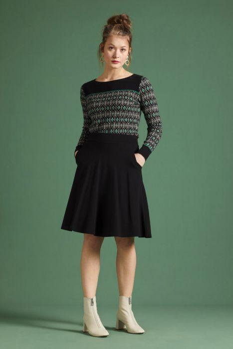 King Louie Sofia Skirt Milano Crepe Black