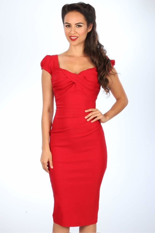 Stop Staring! Billion Dollar Fitted Dress Red