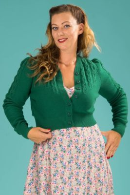 emmy the peggy sue cardigan emerald