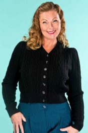 Emmy The Ice Skater Cardigan Black