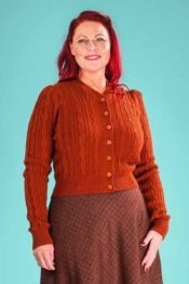 Emmy The Ice Skater Cardigan Cinnamon