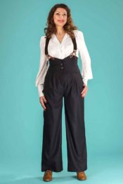 Emmy The Miss Fancy Pants Slacks Black Wool Mix