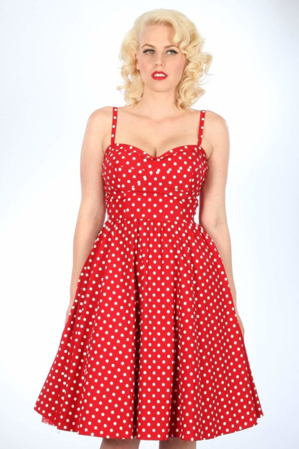 Stop Staring! Summertime Dress Red With Dots