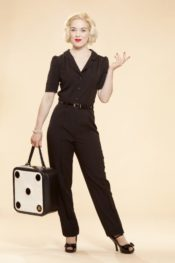 Very Cherry Classic Jumpsuit Black