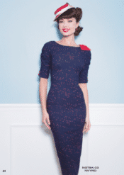 Stop Staring! Night Sky Navy With Red Dot Dress
