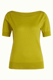 King Louie Audrey Top Cottonclub Cress Yellow