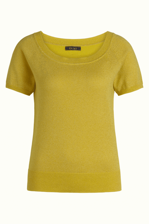 King Louie Boatneck Top Lapis Sunny Yellow