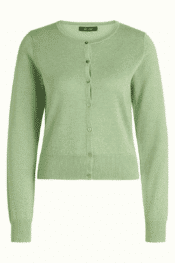 King Louie Cardi Roundneck Lapis Shade Green