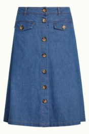 King Louie Caroll Skirt Chambray River Blue