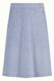 King Louie Davis Skirt Denim Stripe Moonlight Blue