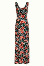 King Louie Ginger Maxi Dress Flora Black
