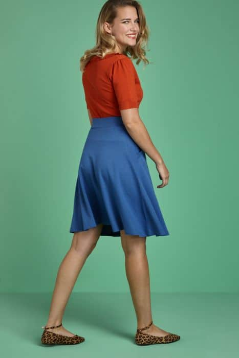 King Louie Sofia Skirt Milano Crepe Moonlight Blue