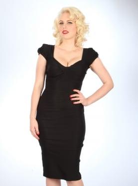 Stop Staring! Billion Dollar Fitted Dress Black