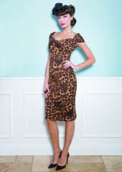 Stop Staring! Lizzy Leopard Fitted Dress