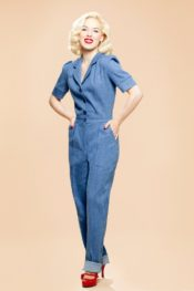 Very Cherry Classic Jumpsuit Medium Denim