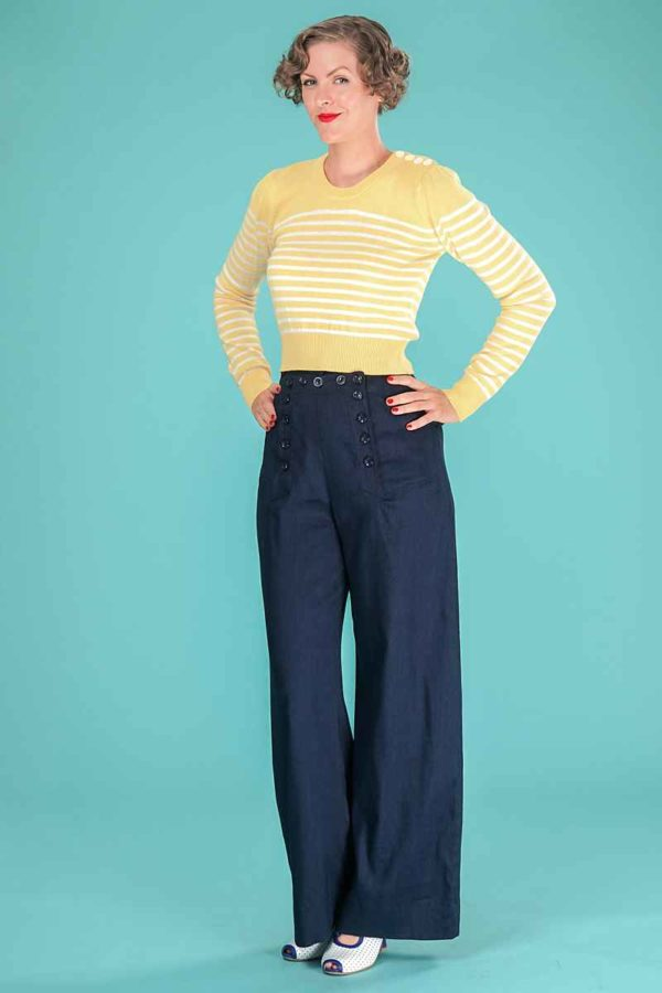 Emmy The Breton Stripe Sweater Mellow Yellow Cream