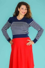 Emmy The Breton Stripe Sweater Midnight Cream