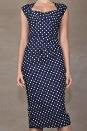 Stop Staring! Love Navy With Dots