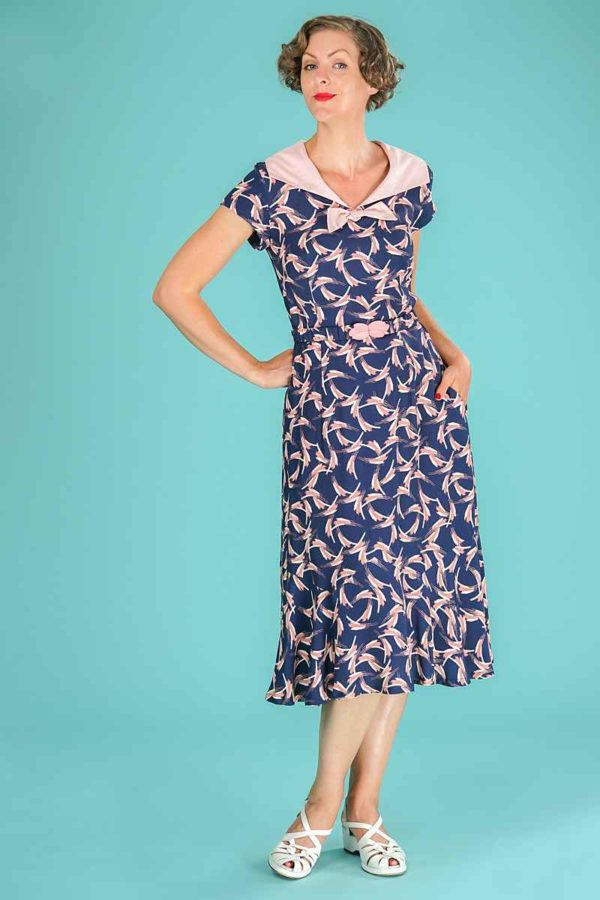 Emmy The Silverscreen Sailorette Dress Blue Print