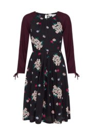 EMILYANDFIN Stephy Dress Winter Blossoms Fuchsia Polka