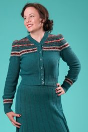 Emmy The Fair Fair Isle Cardigan Teal Multi