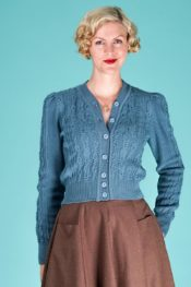 Emmy The Ice Skater Cardigan Dusty Blue