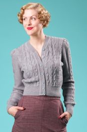 Emmy The Ice Skater Cardigan Gray