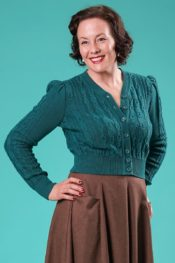 Emmy The Ice Skater Cardigan Teal