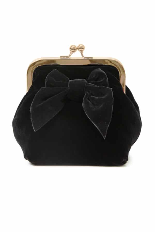 Sonja Love Velvet Clutch Black