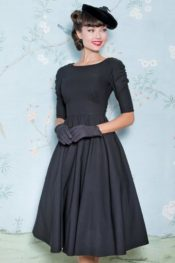 Stop Staring! October Swing Dress Black