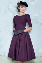 Stop Staring! October Swing Dress Eggplant