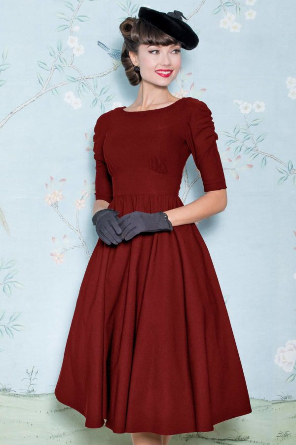 Stop Staring! October Swing Dress Red
