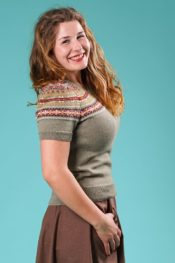 Emmy The Little Fair Isle Sweater Safe Green Multi