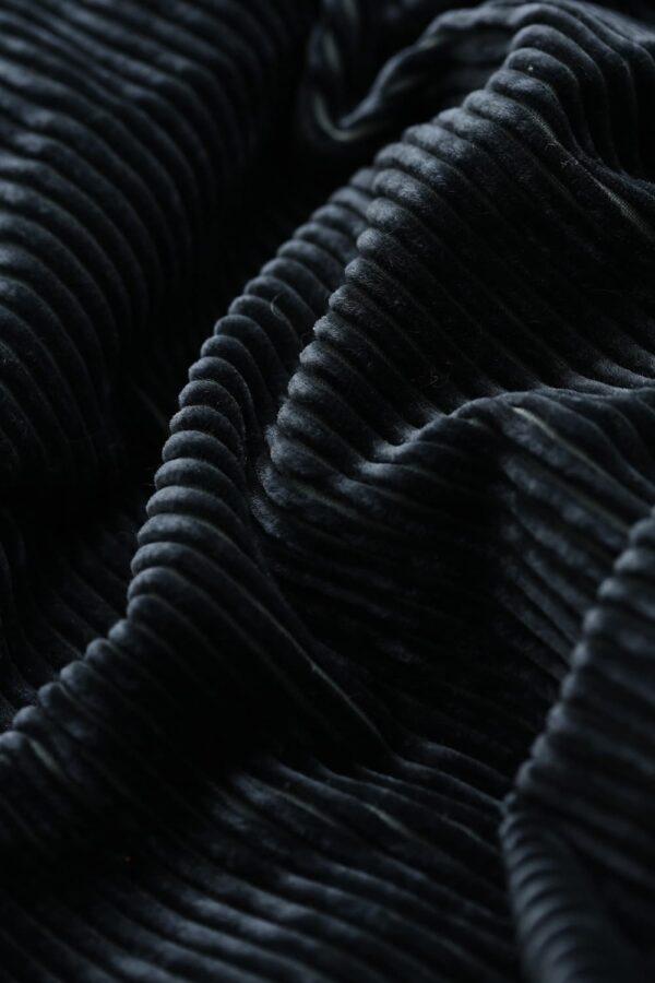 September20 Long Pleated Skirt In Petrol Velvet Cord