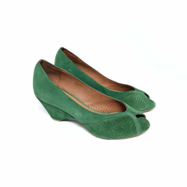 Anonymous Tiffany Golg Green Suede