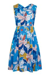 EMILYANDFIN Scarlett Dress Blue Asilah Floral