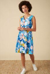 EMILYANDFIN Scarlett Dress Blue Asilah Floral