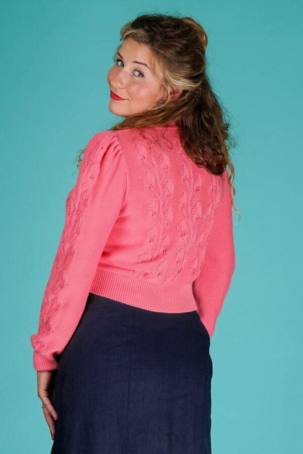 Emmy Susie Q Cardigan Coral Cotton
