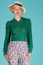 Emmy Susie Q Cardigan Emerald Cotton