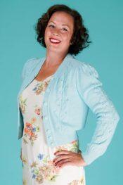 Emmy Susie Q Cardigan Mint Cotton