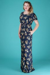 Emmy The Garden Party Gown Navy Floral