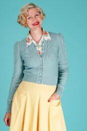 Emmy The Peggy Sue Cardigan Dusty Blue