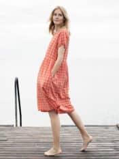 Serendipity Dress Berry Checks Light Woven