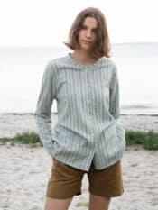 Serendipity Shirt Shade Stripe Light Woven