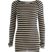 GAI+LISVA Amalie Medium Stripe Chateau Grey Black Stripe