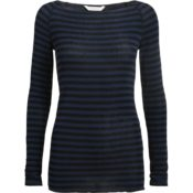 GAI+LISVA Amalie Medium Stripe Dress Blue Black Stripe