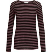 GAI+LISVA Amalie Medium Stripe Wine Black Stripe