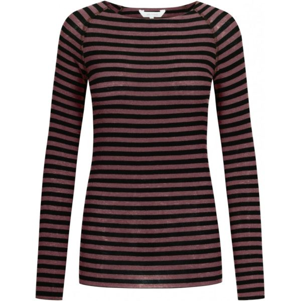 GAI+LISVA Amalie Medium Stripe Wine Black Stripe