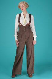 Emmy The Miss Fancy Pants Slacks Brown Salt & Pepper