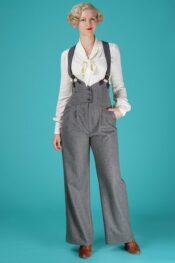 Emmy The Miss Fancy Pants Slacks Gray Stripe